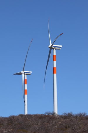 degradation: Wind energy plants in the Caatinga of Brazil Stock Photo