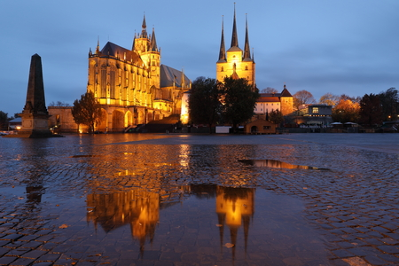 The Erfurt Cathedral in Thuringia