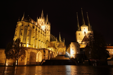 erfurt: The Erfurt Cathedral in Thuringia