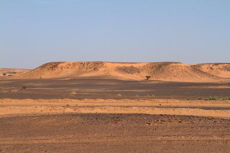 desierto del sahara: El desierto del Sahara en Sudán en África Foto de archivo