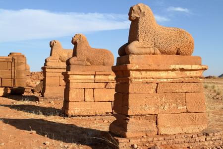 The Temple of Naga in the Sahara of Sudan Standard-Bild