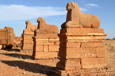 The Temple of Naga in the Sahara of Sudan Stok Fotoğraf