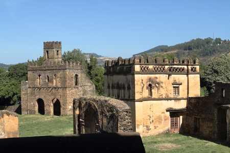 The Fasiledas Palace of Gonder in Ethiopia