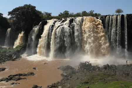 The Nile waterfall Tisissat in Ethiopia Stock Photo