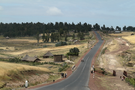 country roads: Country roads in Ethiopia