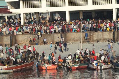 The port of Dar es Salaam in Tanzania, 27. September 2012