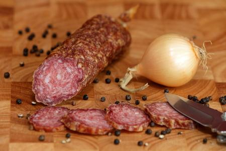 broach: German specialty old sausage salami