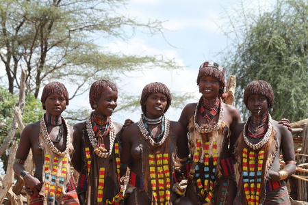 Hamar women from the Omo Valley in Ethiopia
