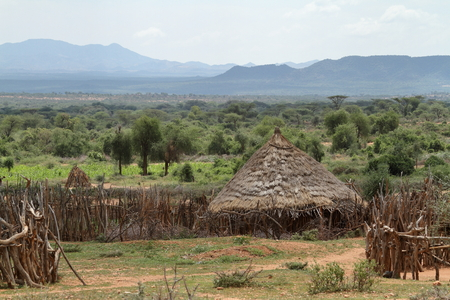 Traditional villages and straw huts in the Omo Valley of Ethiopia Editöryel