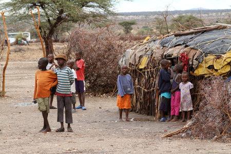 samburu: Playing Samburu children in Africa