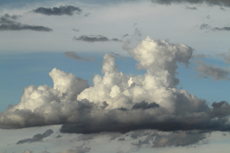 The Rain and thunderclouds in the sky