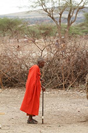 samburu: Old man of the Samburu in Kenya