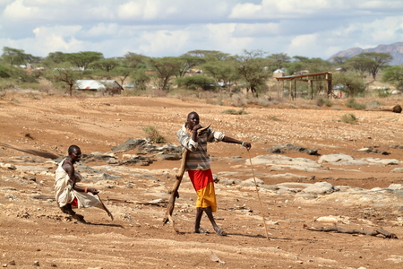 samburu: Men from the Samburu Tribe in Kenya Stock Photo