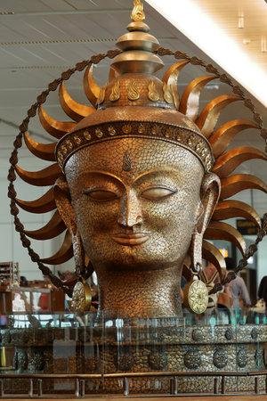 Portrait of Shiva in India Editorial