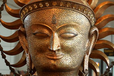 Portrait of Shiva in India Imagens