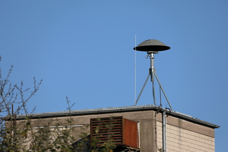 Siren on the roof for the fire brigade Imagens
