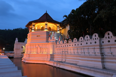 The tooth temple of Kandy in Sri Lanka Stock Photo