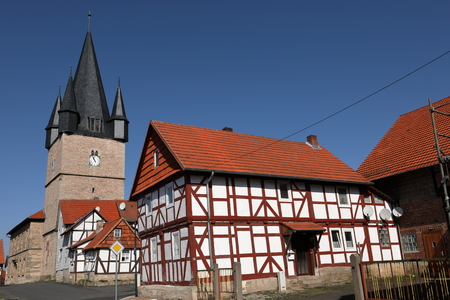The village church of Netra in northern Hessen Germany