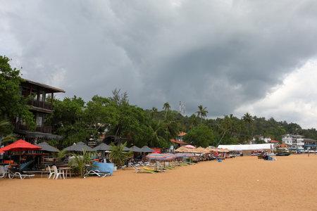 Beaches and coast at Koggala in Sri Lanka