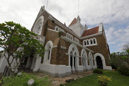 The Christian church of Galle in Sri Lanka
