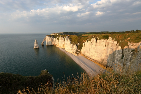 The cliffs at Etretat in Normandy