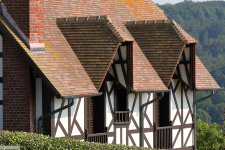 Historic half-timbered house in Normandy