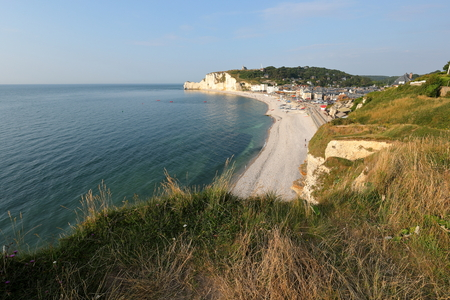 The beach of Etretat in Normandy Stockfoto