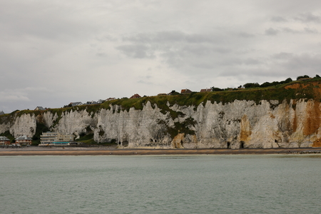 The rocky coast near Dieppe in Normandy Stock Photo