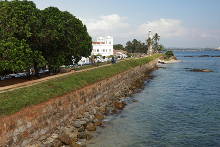 The lighthouse of Galle in Sri Lanka Stock Photo