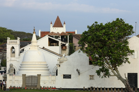Temples and churches of Galle in Sri Lanka