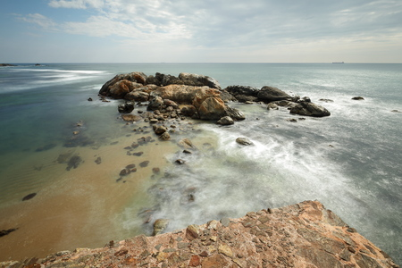 The coast near Galle in Sri Lanka Stock Photo