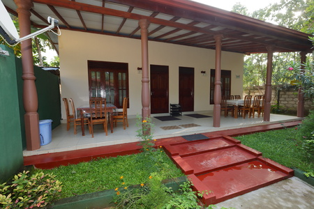 Cottage with porch in Sri Lanka