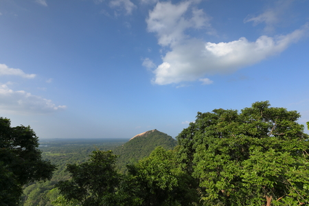 The Pidurangala Rock in Sri Lanka
