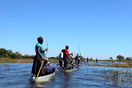 Boat trip on the Okavango