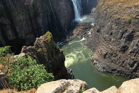 The Victoria Falls and the Zambezi between Zambia and Zimbabwe