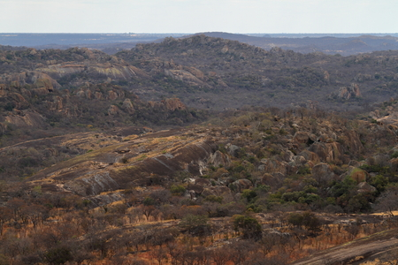 The landscape of the Matopo National Park in Zimbabwe 免版税图像
