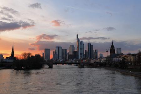 The skyline of Frankfurt Reklamní fotografie