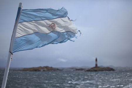 The flag and national colors of Argentina 写真素材