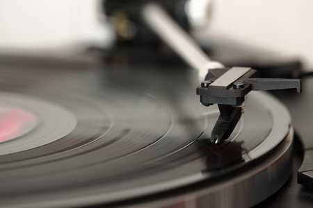 Analog record player for records and music