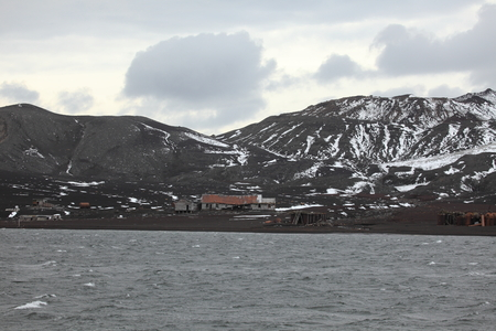 Old Whaler Station at Antarctica Stock Photo