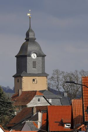 The village of Herleshausen with the castle church