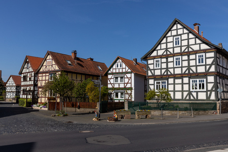 Historic half-timbered houses in Hesse