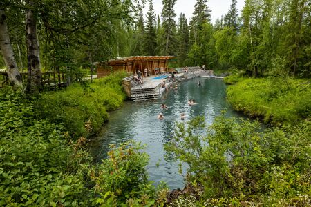 The Hot Springs of the Liard River in Canada