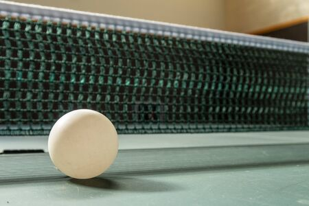 Table Tennis with Ball Net and Table Banque d'images