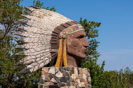 Indian Head Sculpture in Canada