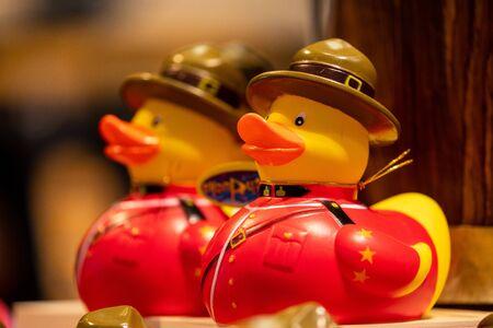 Canada RCMP Rubber Duck Banque d'images
