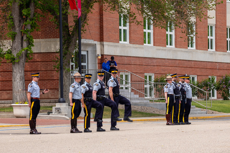 Parade of RCMP in Regina Canada Éditoriale