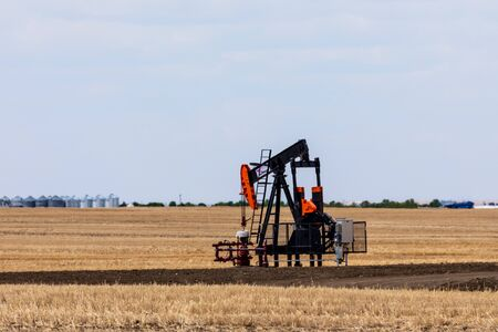 Feed Pump of Petroleum in the Prairie of Canada