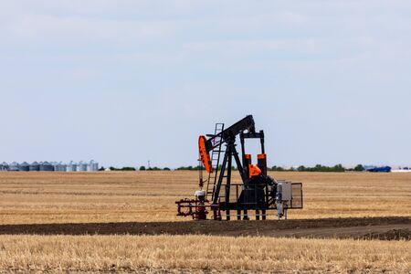 Feed Pump of Petroleum in the Prairie of Canada