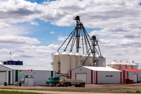 Agriculture silos in the field of Canada